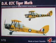 Pavla 72052 Model Kit 1/72 D.H. 82C Tiger Moth